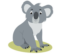 graphic royalty free Free clip art pictures. Koala clipart