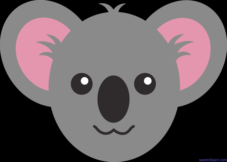 vector transparent stock Face clip art sweet. Koala clipart