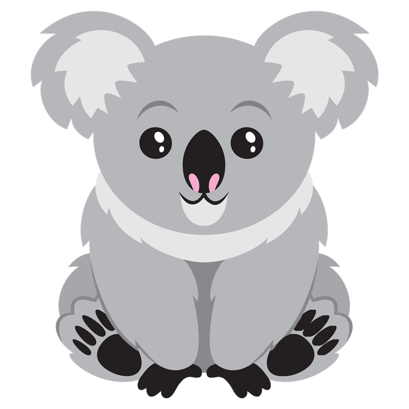 graphic black and white stock Cute Koala Bear Clipart