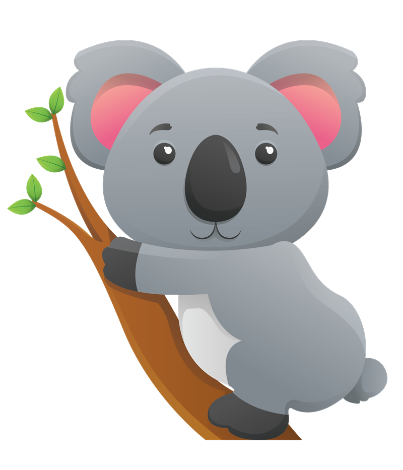 clipart black and white download cute koala clipart