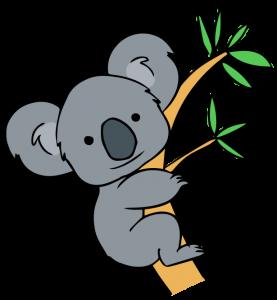 vector freeuse Free clip art forest. Clipart koala