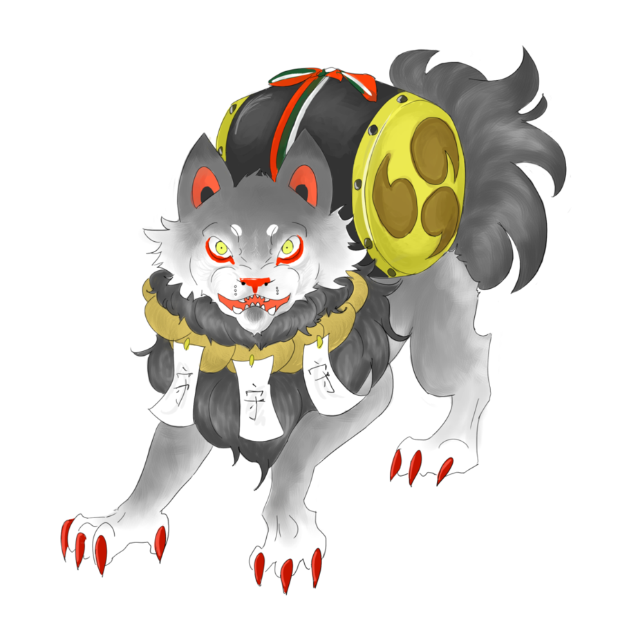 png stock Komainu drawing. Oc by trexia on