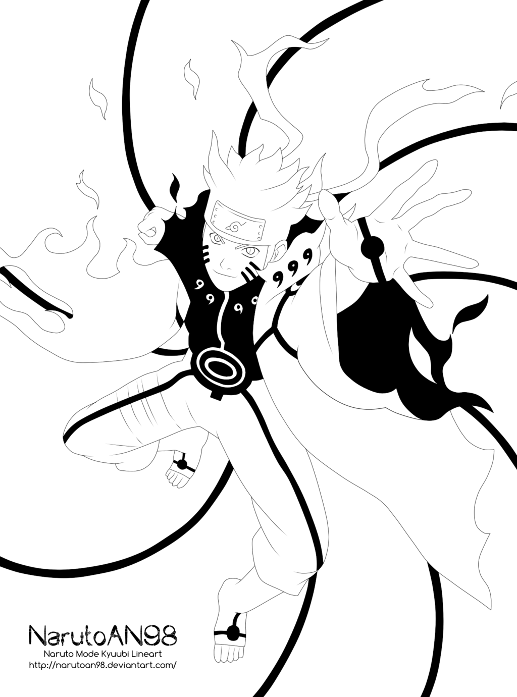 banner freeuse Black and white Naruto Uzumaki Line art Drawing Kurama