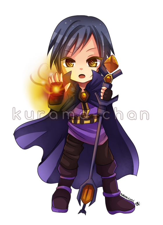 picture free stock Kurama drawing warrior. Chibi magician commission for