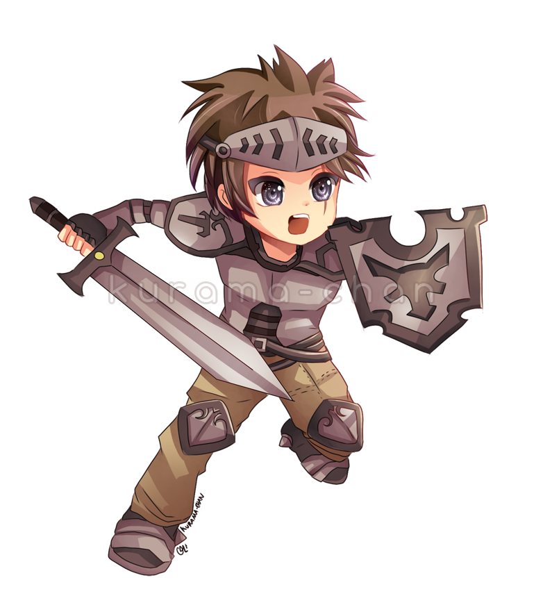 clip art stock Chibi commission for guardianbr. Kurama drawing warrior