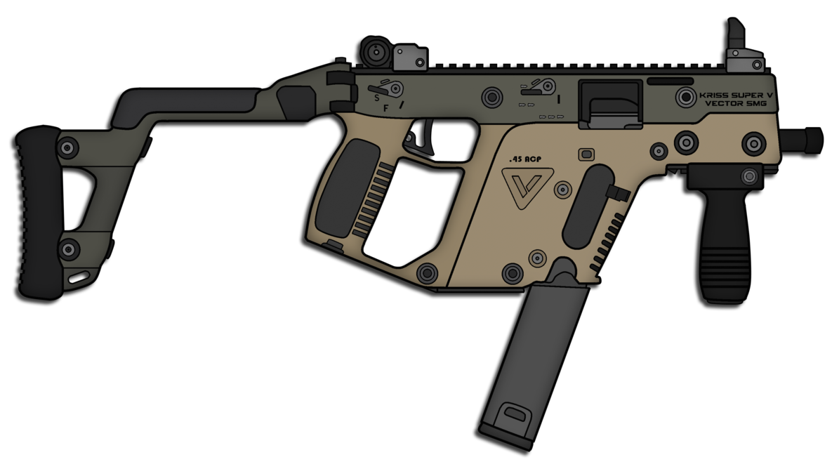 jpg black and white download KRISS Vector SMG by Skorpion