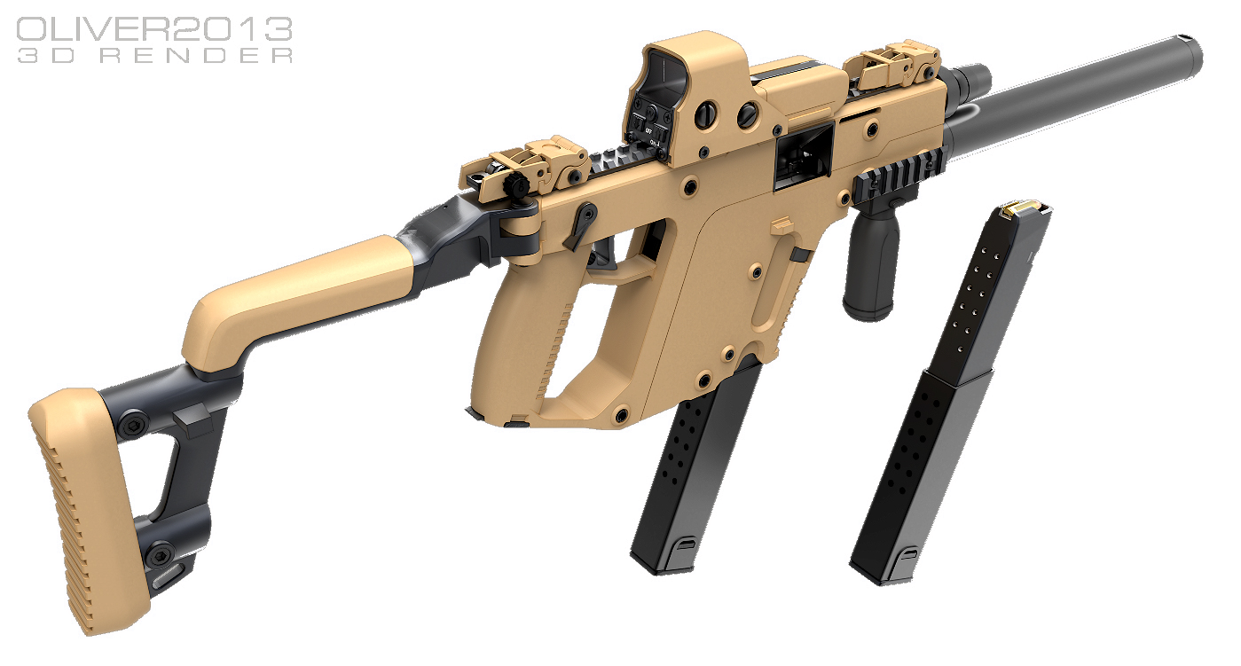 royalty free stock Pinterest guns and weapons. Vector carbine kriss super v