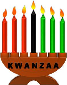 black and white Free . Kwanzaa clipart