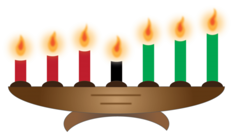 free Candle holder set large. Kwanzaa clipart happy
