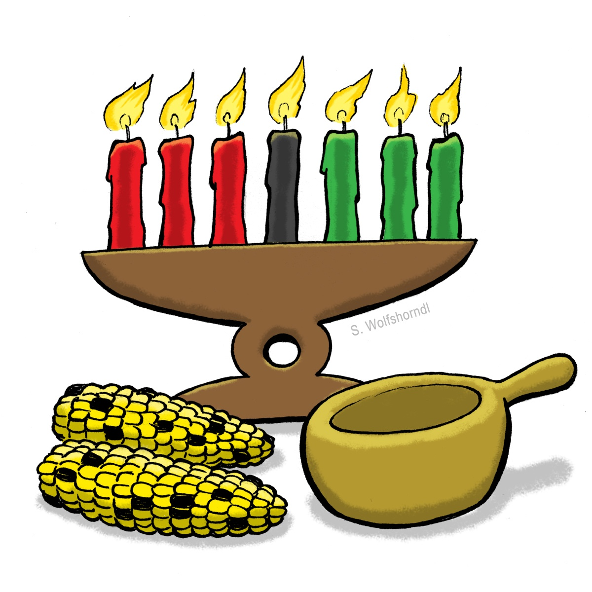 graphic free Clip art with candles. Kwanzaa clipart mantle.