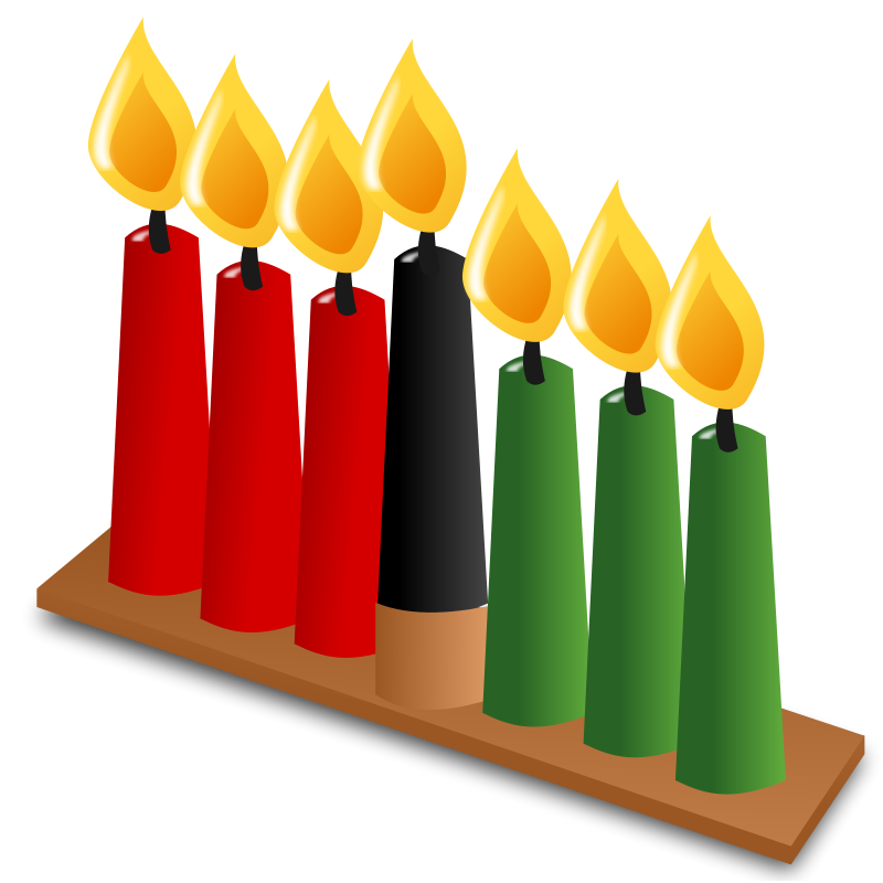 clip black and white Kwanzaa clipart mantle. Free pictures of download.