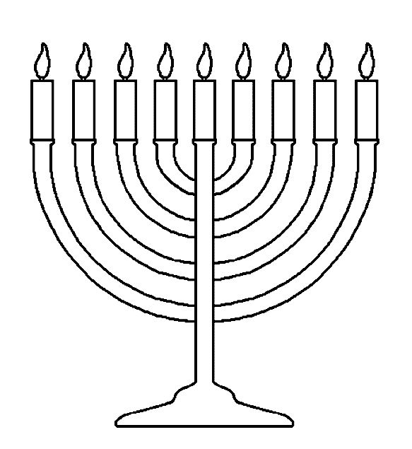 vector black and white library A very high candles. Kwanzaa clipart menorah.