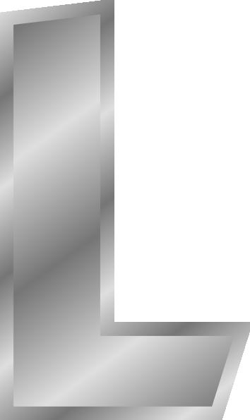 jpg transparent stock L clipart alphabet l. Effect letters silver clip.