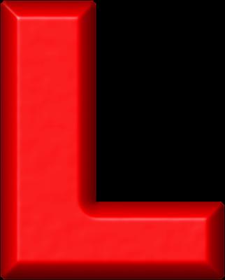 png L clipart alphabet l. Red letter doki okimarket.