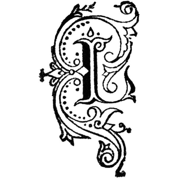 png library L clipart fancy letter. Decorative found on polyvore.