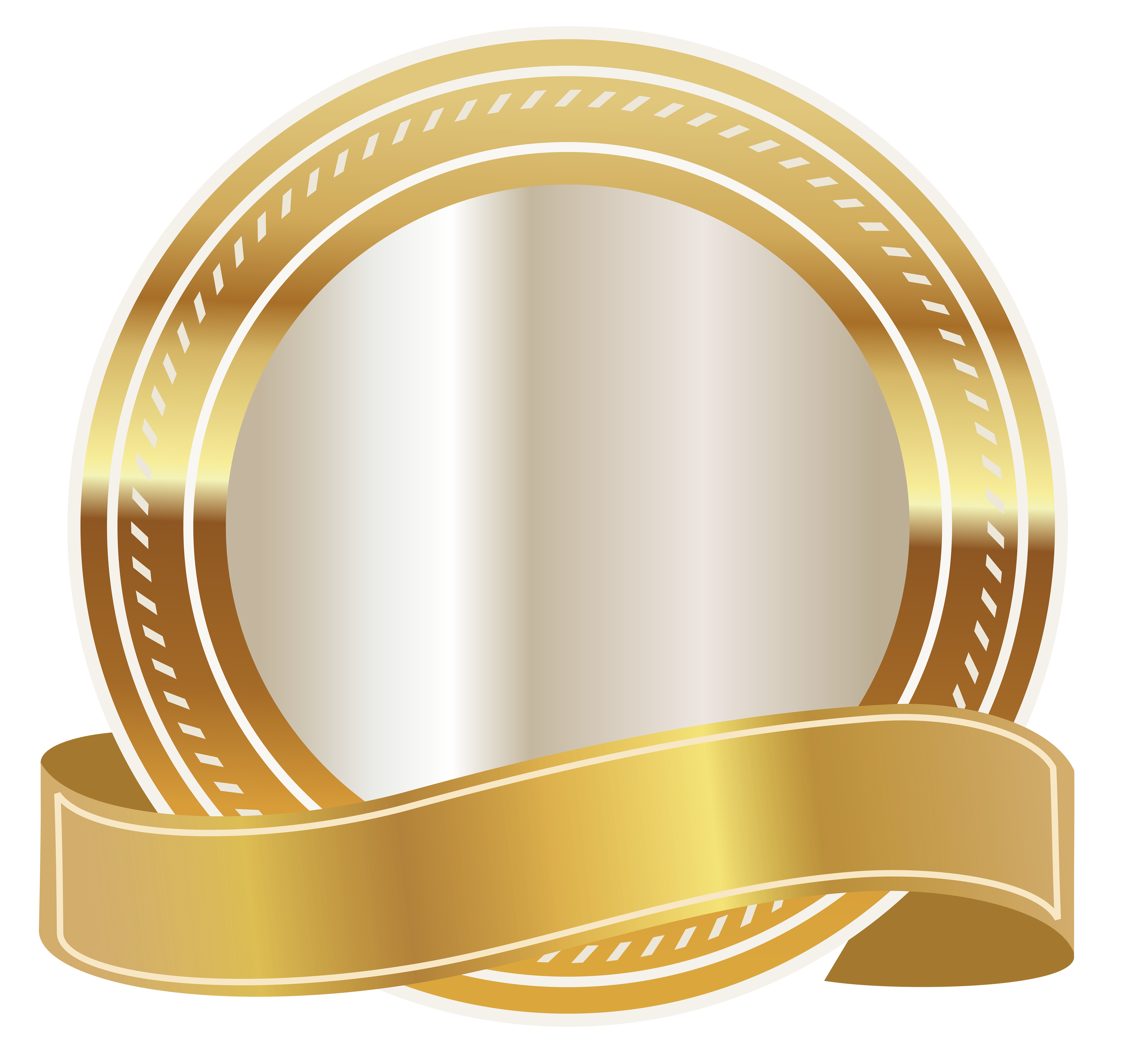 picture free stock Gold Seal with Gold Ribbon PNG Clipart Image