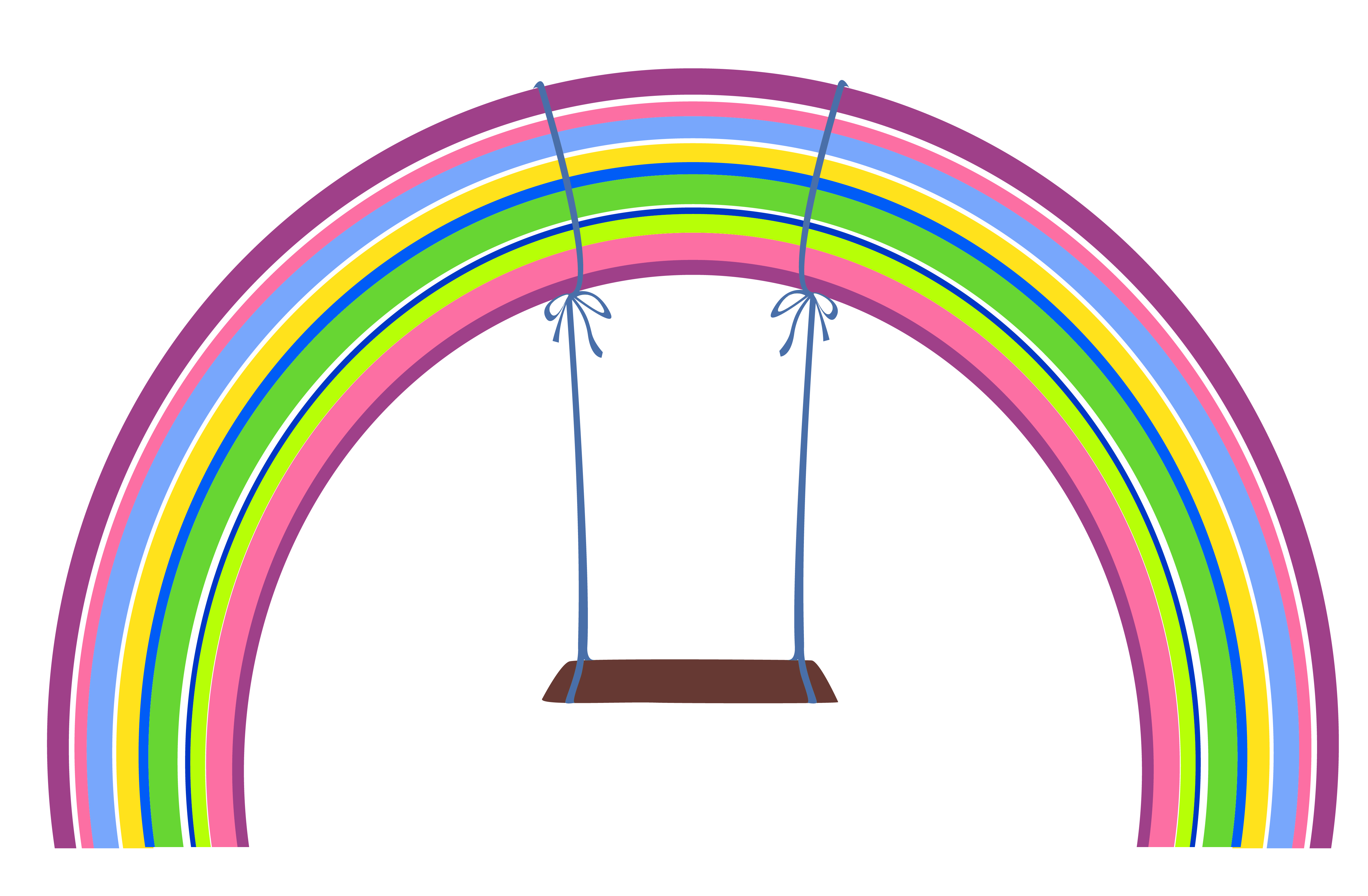 clipart royalty free library With swing png gallery. L clipart rainbow.