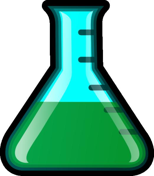 graphic freeuse Beaker green clip art. Lab equipment clipart