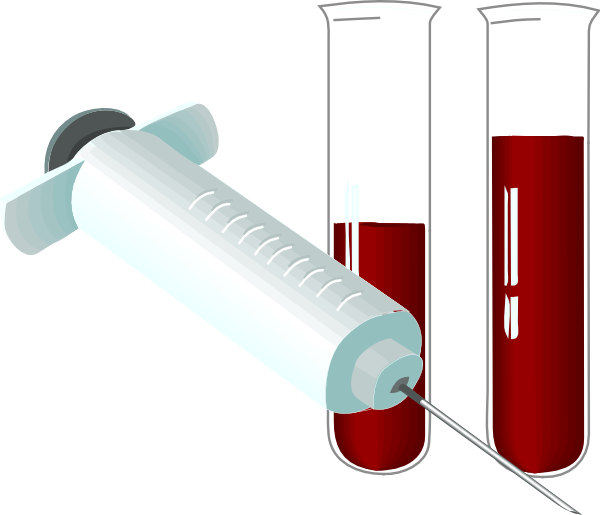 png black and white library Lab test . Blood testing clipart