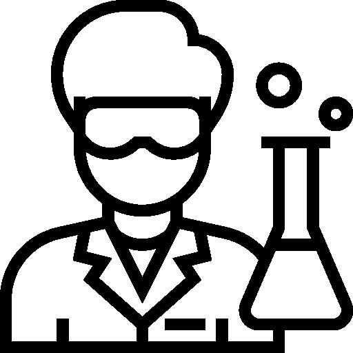 clip Goggles icon . Lab technician clipart