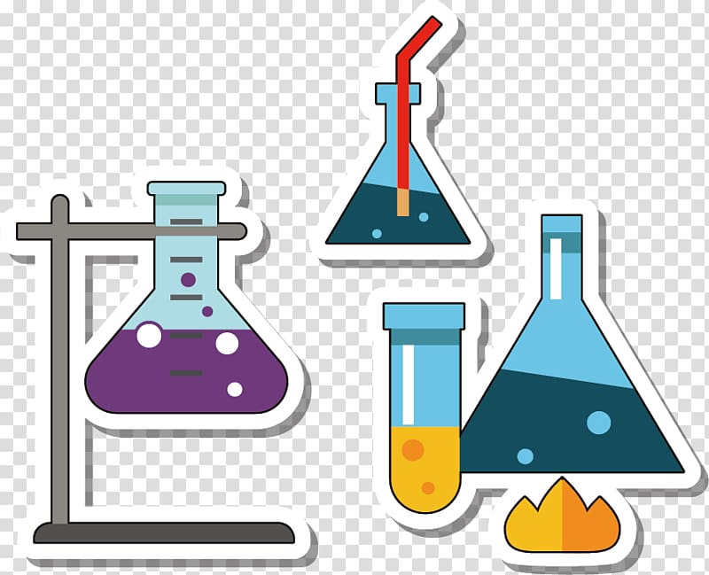 graphic freeuse library Chemical formulas in laboratory. Lab materials clipart