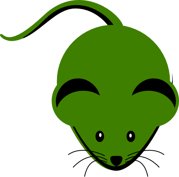 png royalty free library Cartoon cute green clip. Lab mouse clipart