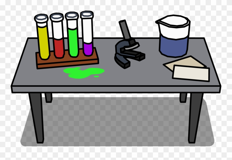 svg black and white library Laboratory desk sprite transparent. Lab table clipart
