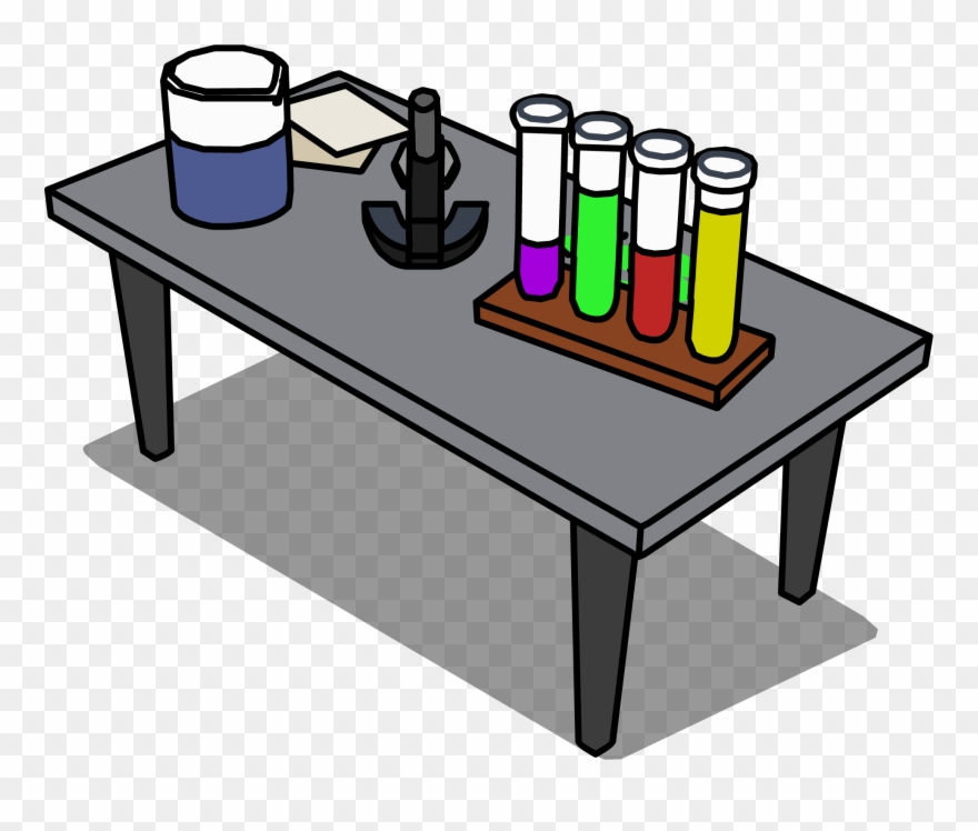 clipart freeuse stock Lab table clipart. Science png desk transparent
