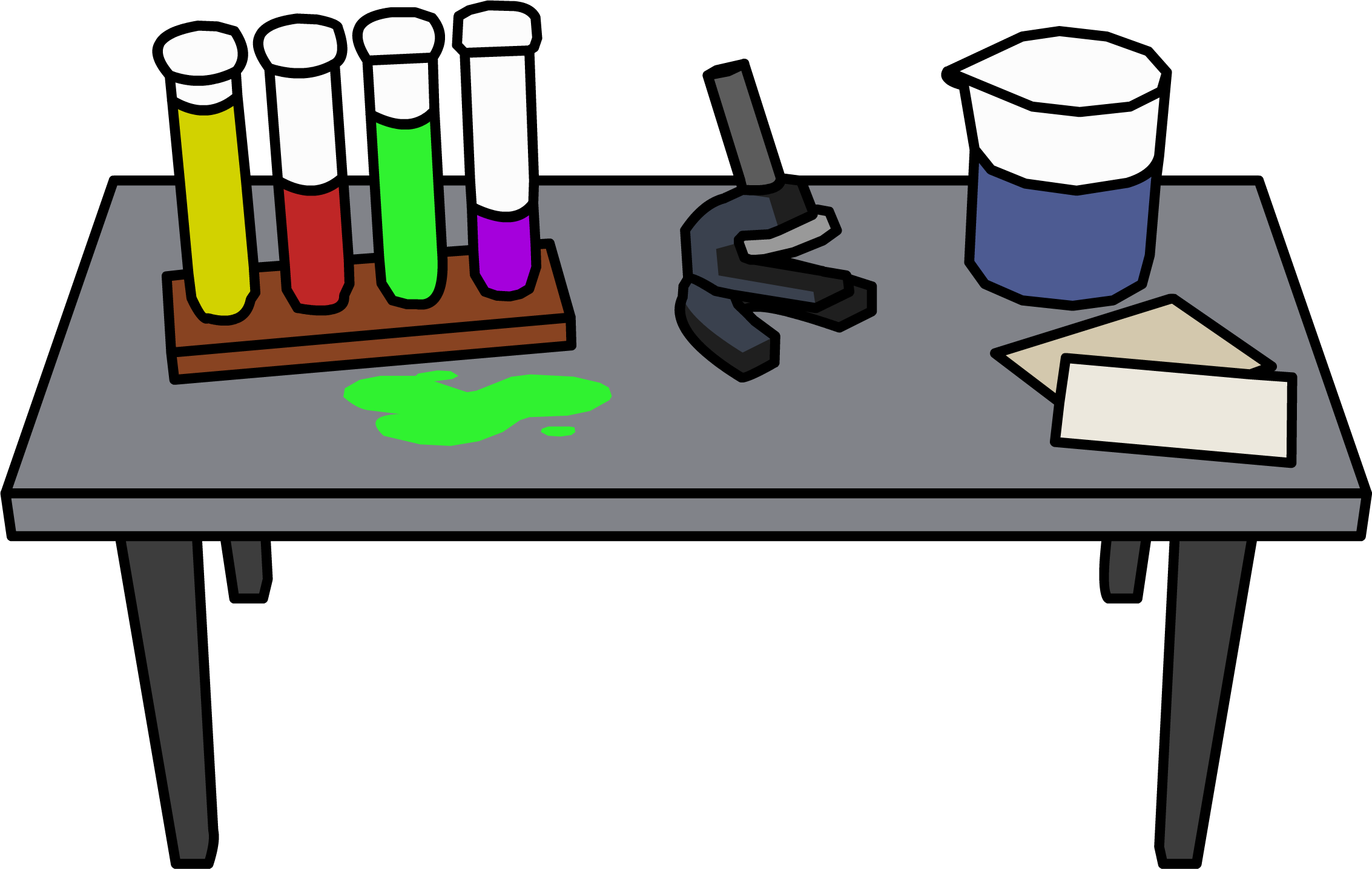 clip art black and white library Lab table clipart. Transparent