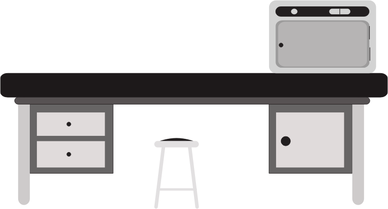 banner library library Scientific desk medium image. Lab table clipart
