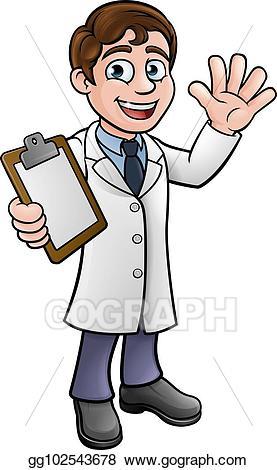 jpg free Lab technician clipart. Vector art scientist or