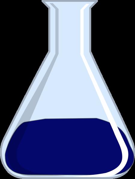 png transparent Blue clip art at. Beaker transparent lab