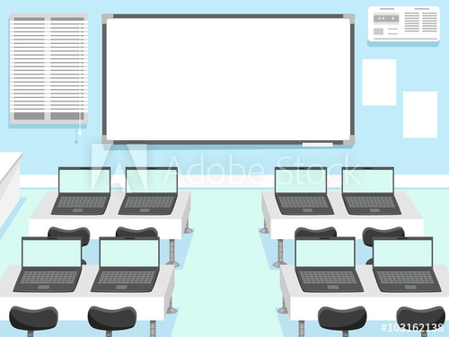 clip free Vector computer class room. Laboratory classroom buy this