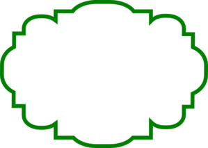 banner library Green clip art at. Label clipart