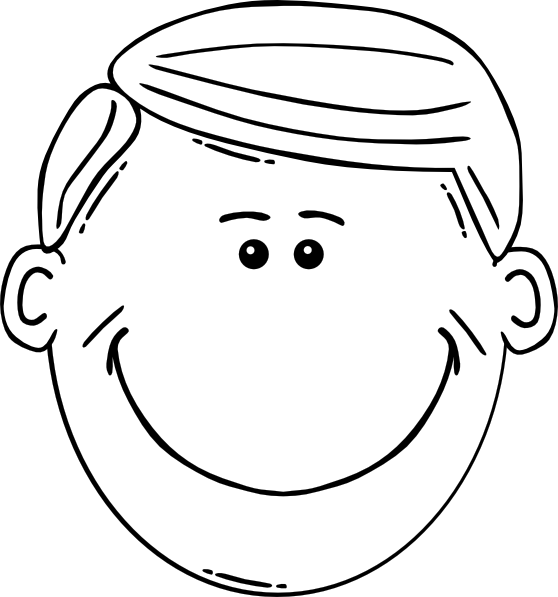 graphic transparent library Label clipart black and white. Man face world outline