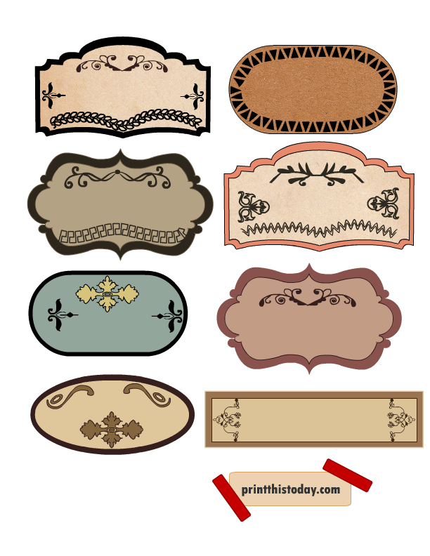 vector free stock Label clipart vintage. Beautiful labels for jars.