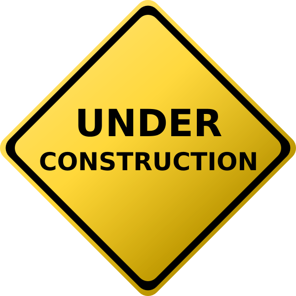 graphic transparent library I am a work. Construction zone clipart.