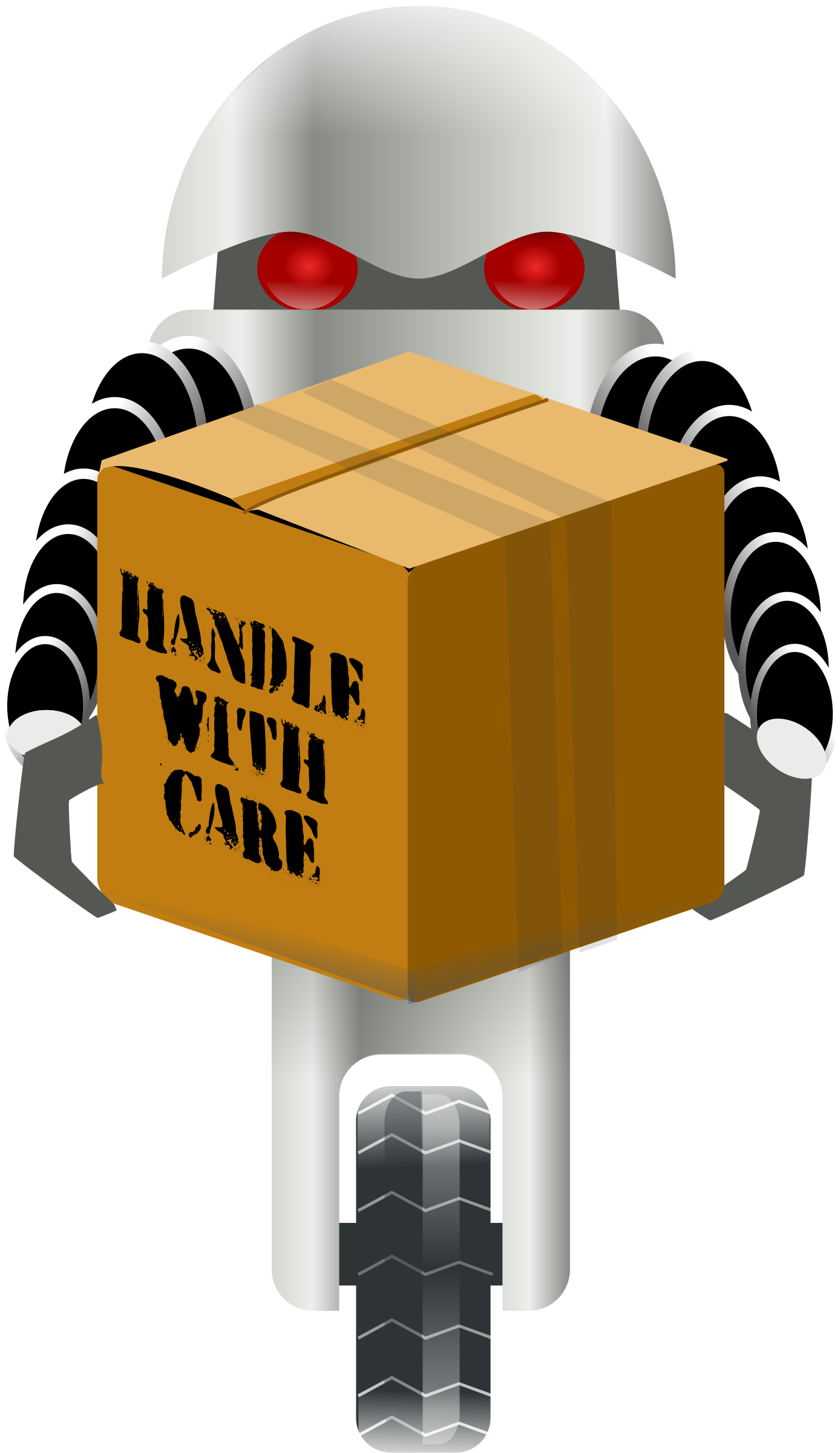 banner transparent download robot carrying things