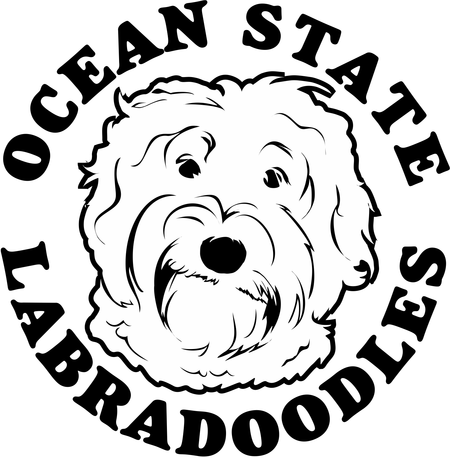 clip black and white library Labradoodle Drawing at GetDrawings