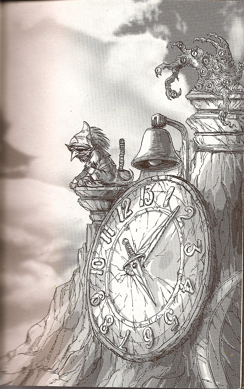 clipart Labyrinth drawing 13 hour clock.  from dark crystal.