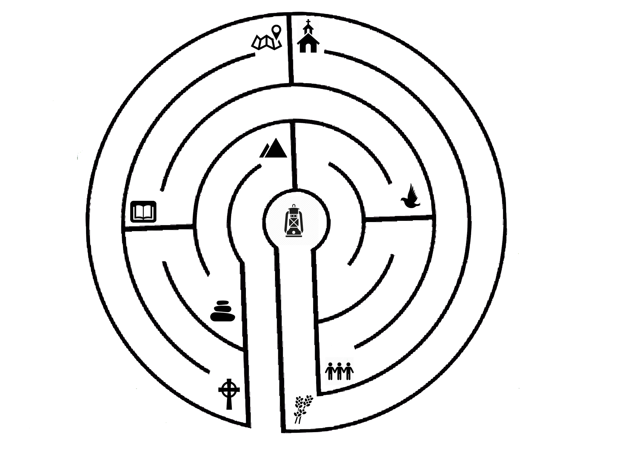 banner royalty free Labyrinth drawing art. The possibilities of prayer
