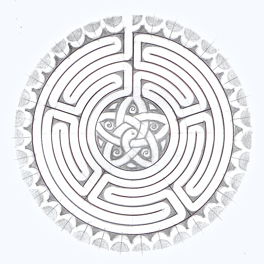 png free stock And craft of . Labyrinth drawing art