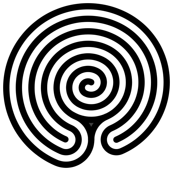 vector transparent stock Hindu or Indian form of labyrinth with a spiral in its center