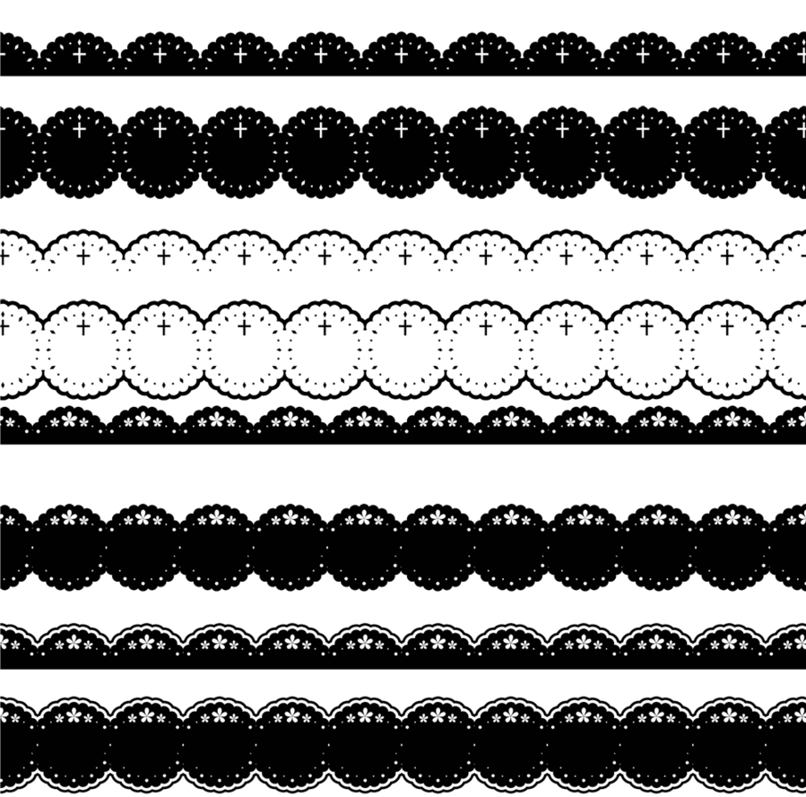 clipart free download Border design by jjcutie. Simple lace patterns clipart.