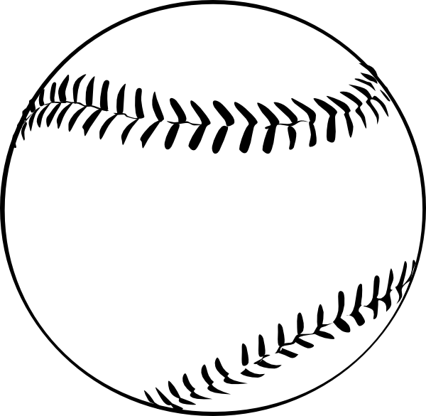 free Clip art at clker. Lace clipart half baseball.