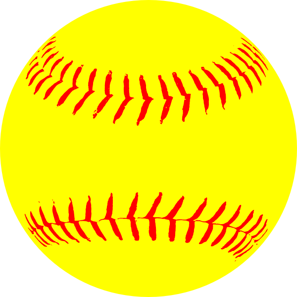 royalty free stock Lace clipart half baseball. Yellow paintings softball clip.