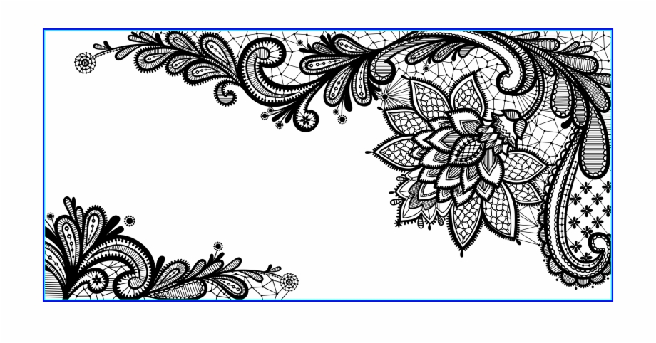 vector royalty free download Marvelous black ornament png. Lace clipart vector