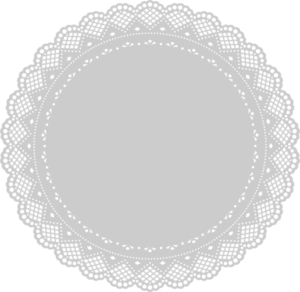 image royalty free download Clip art at clker. Lace doily clipart