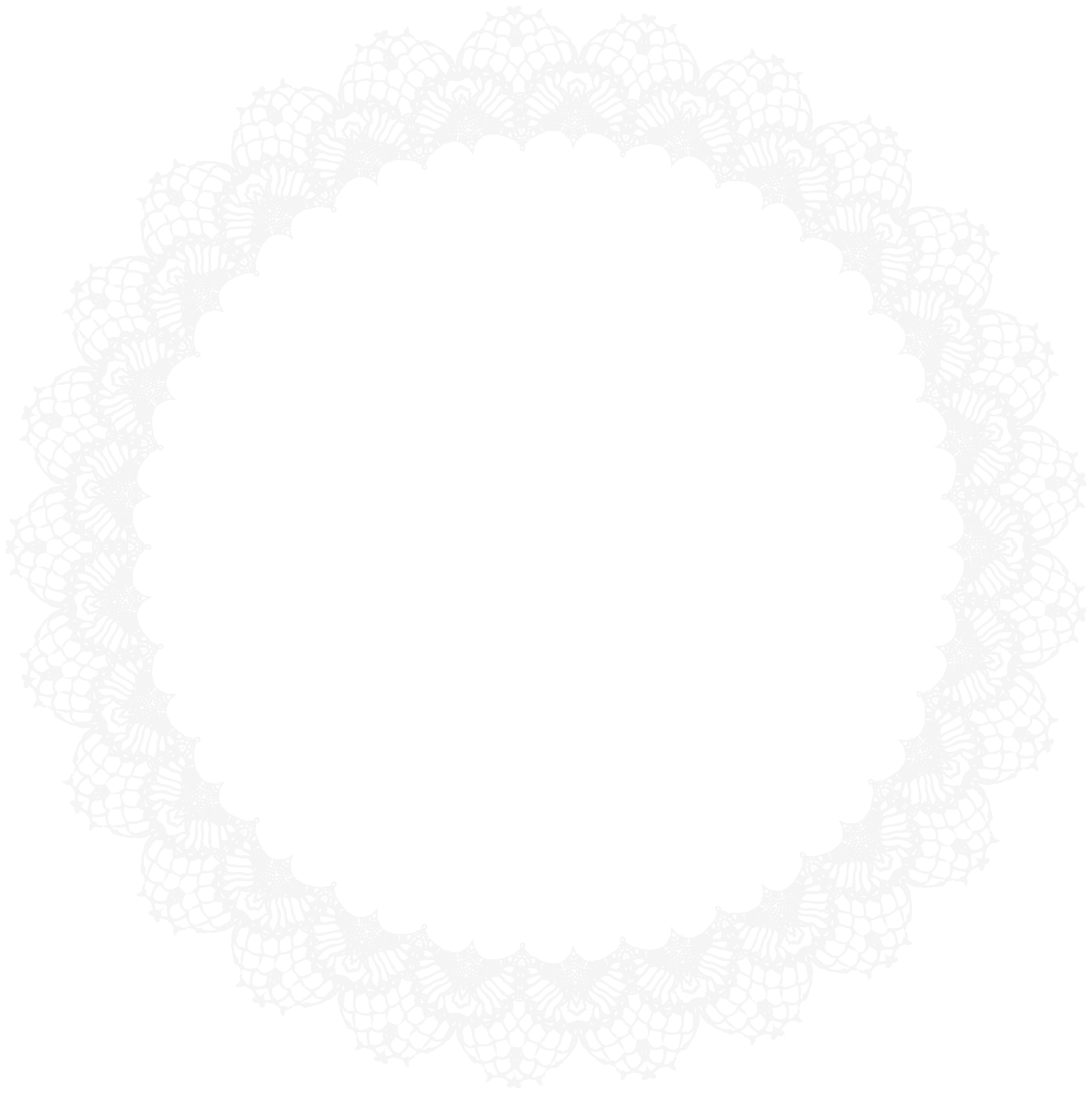 vector freeuse library Border frame png clip. Lace doily clipart.