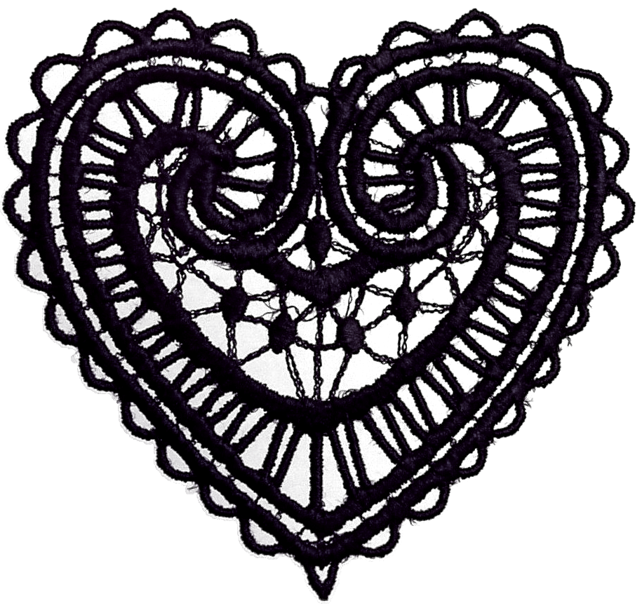png transparent library Graphic collection dark heart. Lace clipart vector